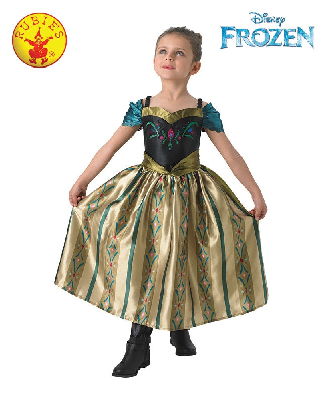 Disney Frozen Anna Coronation Deluxe Girls Costume - Size M, L - Salsa and Gigi