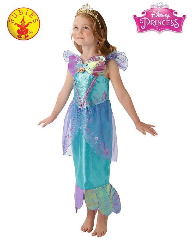 Disney Ariel Storyteller Mermaid Girls Costume - Sizes S, M, L - Salsa and Gigi
