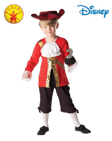 Disney Captain Hook Deluxe Boys Pirate Costume - Size S, M, L - Salsa and Gigi