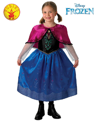 Disney Frozen Anna Deluxe Girls Costume - Size S, M - Salsa and Gigi