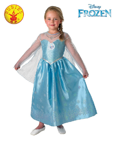 Disney Frozen Elsa Deluxe Girls Costume - Size S, M - Salsa and Gigi