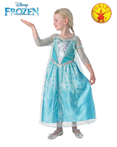 Disney Frozen Elsa Premium Girls Costume - Size M, L - Salsa and Gigi