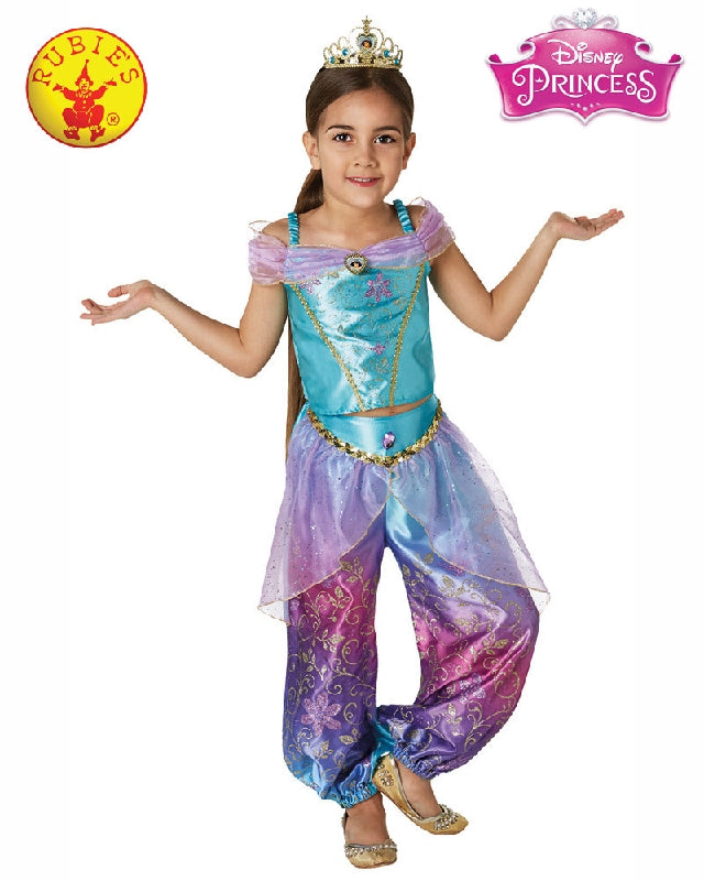 Disney Jasmine Rainbow Deluxe Girls Costume - Size S, M - Salsa and Gigi