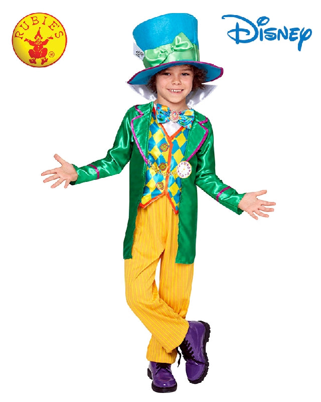 Disney Mad Hatter Deluxe Boys Costume - Size S, M - Salsa and Gigi