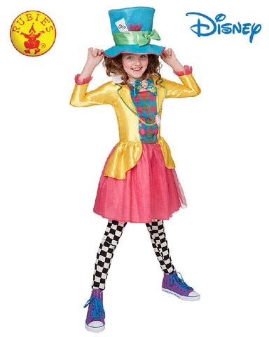 Disney Mad Hatter Deluxe Teen Girls Costume - Sizes 9-10yr, 11-12yr, 13-14yr - Salsa and Gigi