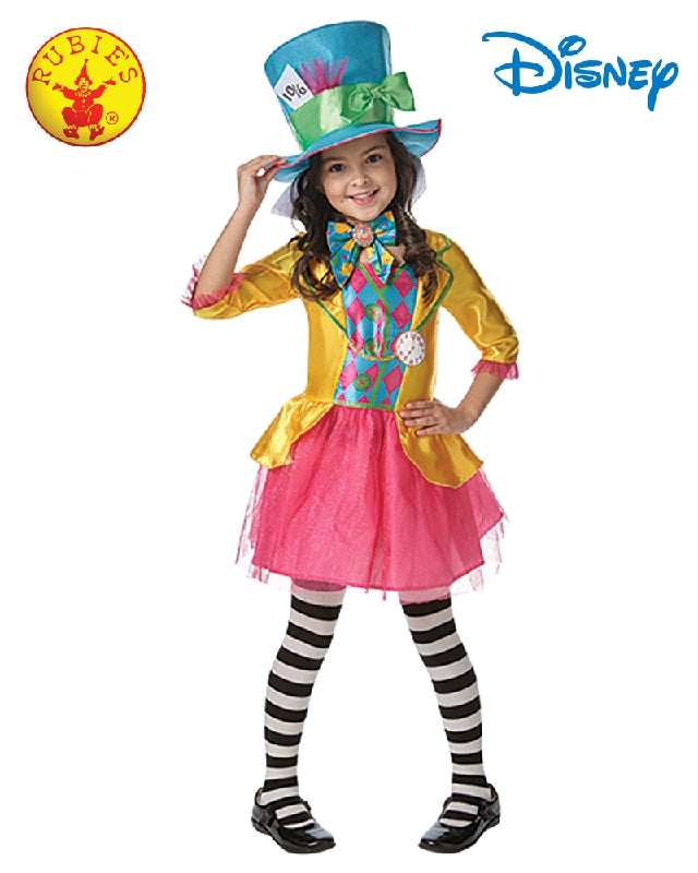 Disney Mad Hatter Girls Deluxe Costume - Size S, M - Salsa and Gigi