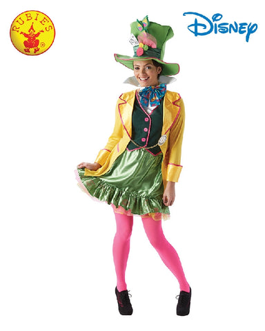 Disney Mad Hatter Ladies Costume - Adult Sizes XS, S, M, L - Salsa and Gigi