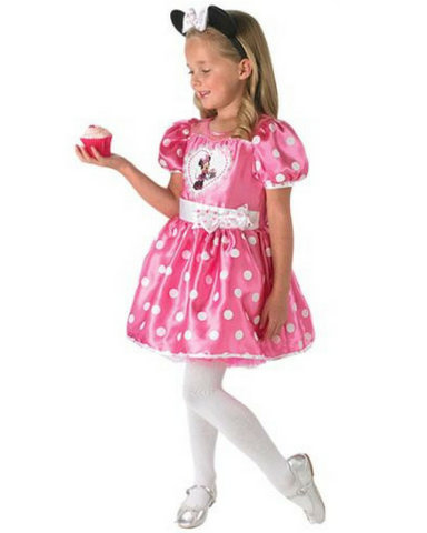 Disney Minnie Mouse Pink Cupcake Girls Costume - Medium - Salsa and Gigi