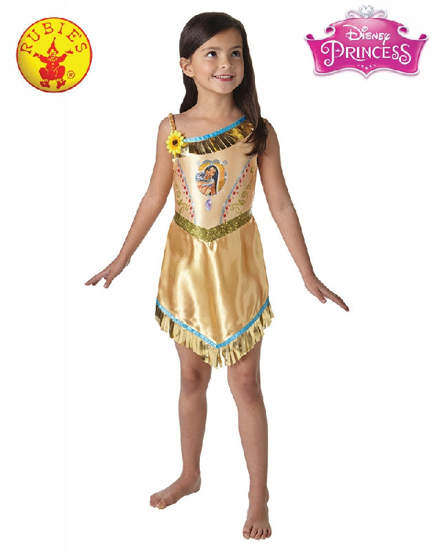 Disney Pocahontas Fairytale Girls Costume - Sizes S, M, L - Salsa and Gigi