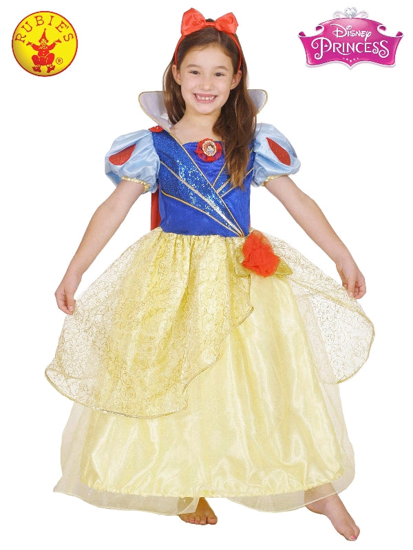 Disney Snow White Glitter and Glow Premium Girls Costume - Salsa and Gigi Australia 7924 01