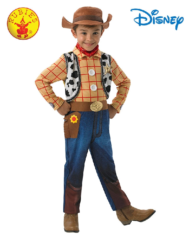 Disney Toy Story Woody Deluxe Boys Costume - Size 4-6 years - Salsa and Gigi