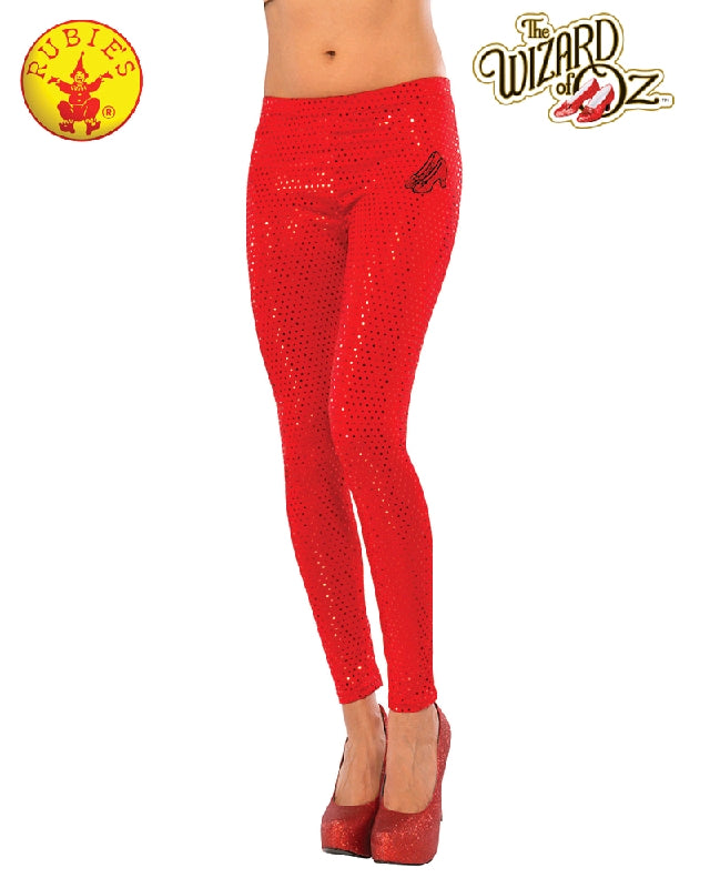 Dorothy Ruby Red Sequin Ladies Leggings - Adult STD - Salsa and Gigi