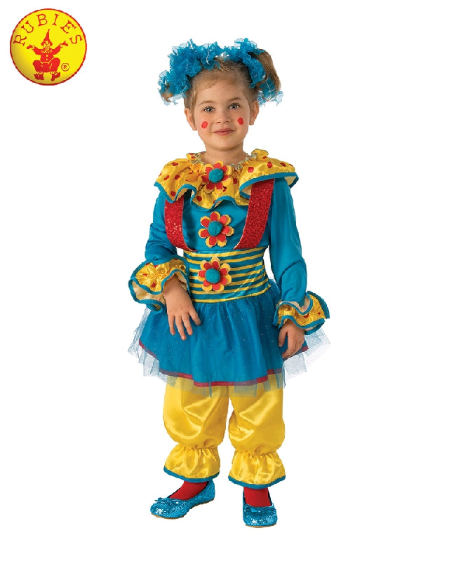 Dotty the Clown Girls Costume - T, S, M - Salsa and Gigi