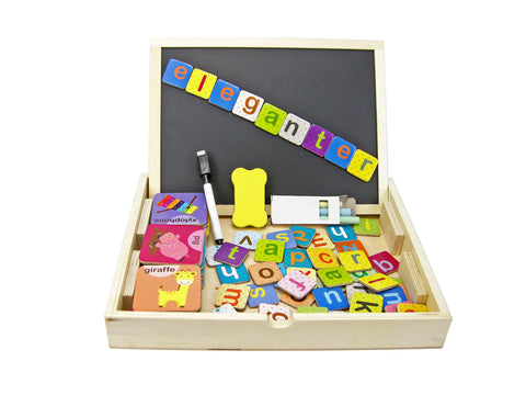 Magnetic Alphabet Box - Salsa and Gigi