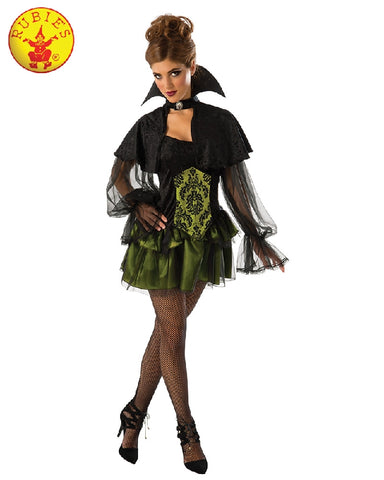 Elegant Vampiress Deluxe Ladies Costume - Adult Sizes S, STD - Salsa and Gigi