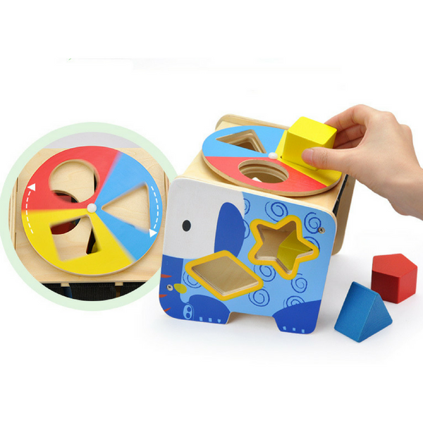 Elephant Shape Sorter - Salsa and Gigi