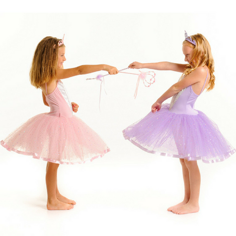 Ballerina Tutu Head over Heels Ballet Girls Costume in Lilac or Light Pink - Salsa and Gigi