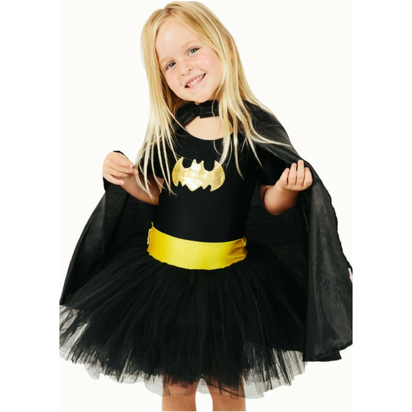 Batgirl Tutu Costume Dress Up with Cape for Female Superheroes - Salsa and Gigi