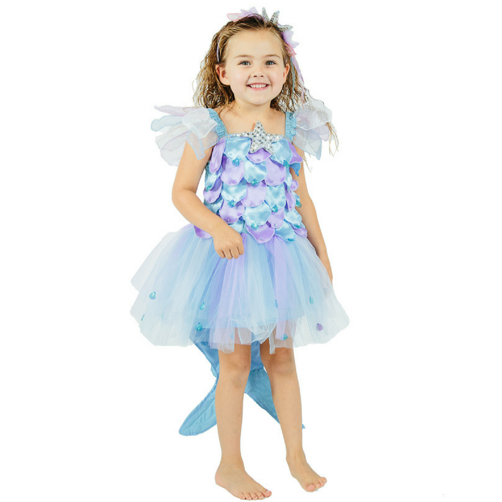 Ocean Beach Mermaid Princess Costume for Little Girls and Toddlers - Salsa and Gigi