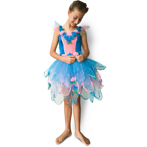 Bloom Fairy Dress for Girls and Toddlers in Blue - Salsa and Gigi