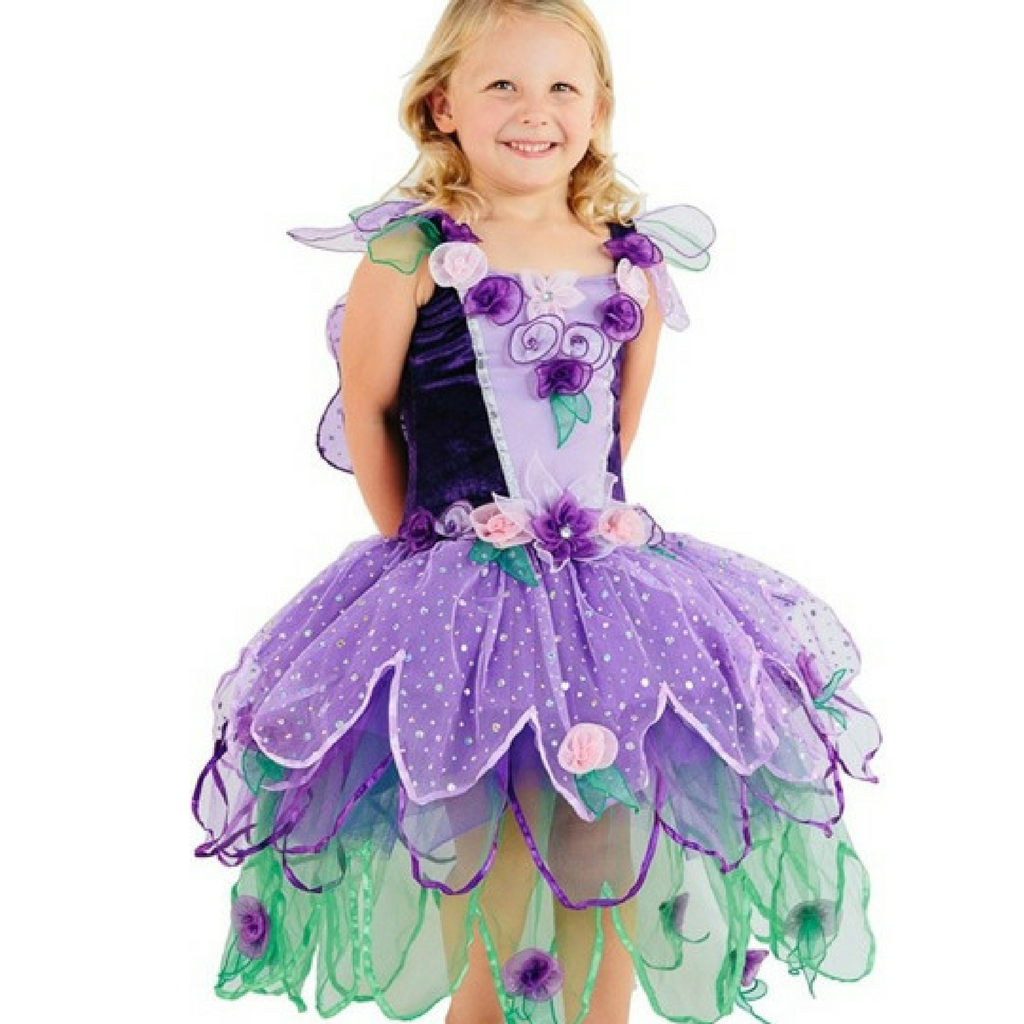 Bloom Fairy Dress for Girls and Toddlers in Purple - Salsa and Gigi