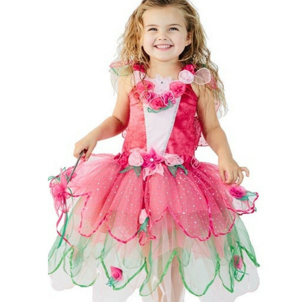 Bloom Fairy Dress for Girls and Toddlers in Hot Pink