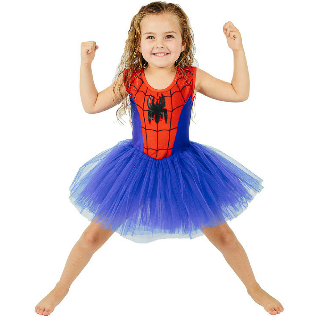 fairy girls spider girl tutu costume dress spider logo blue tulle tutu skirt