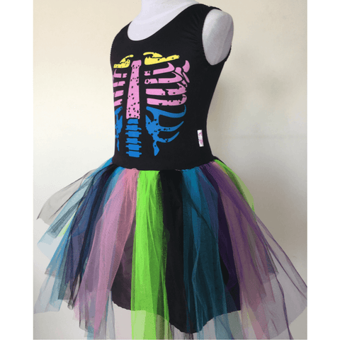 Rainbow Skeleton Costume Dress