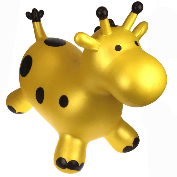 Bouncy Ride On Inflatable Toy - Gold Giraffe - Salsa and Gigi