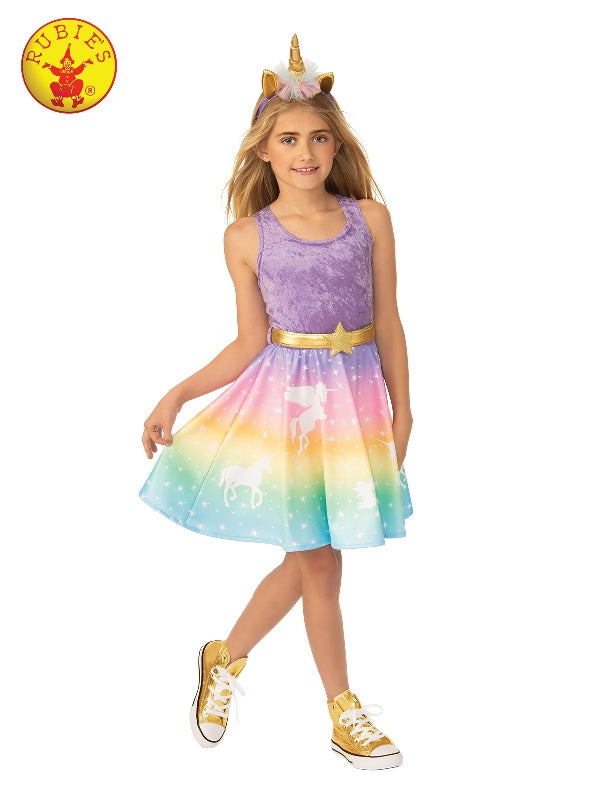 Girls Unicorn Costume Rainbow Dress - Salsa and Gigi Australia 700905 01