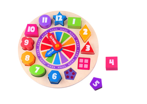 Glow in the Dark Clock Number Puzzle - Salsa and Gigi Australia TKF042 01