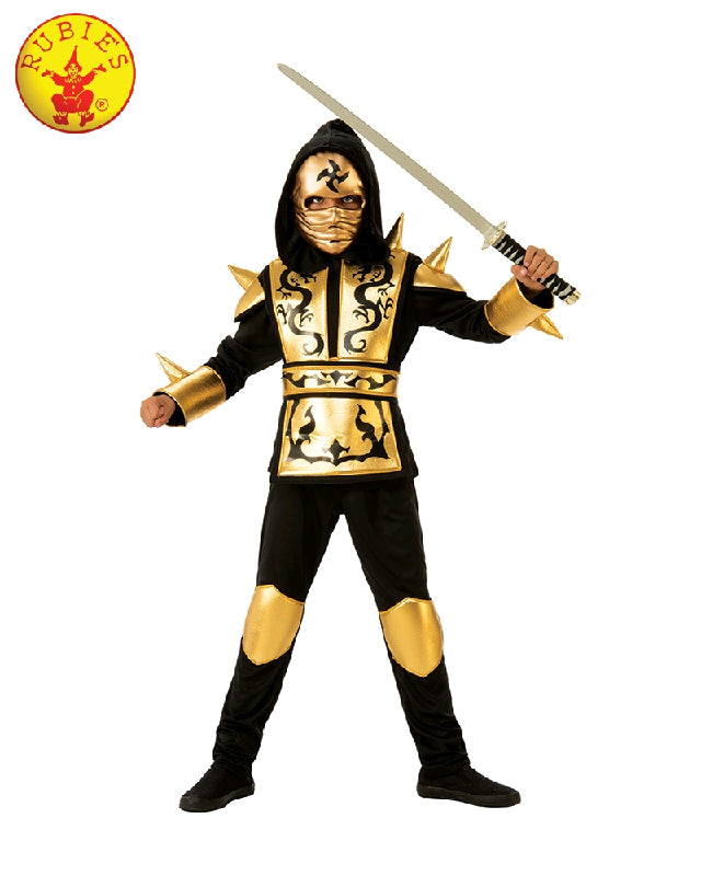 Gold Ninja Boys Costume - M, L - Salsa and Gigi