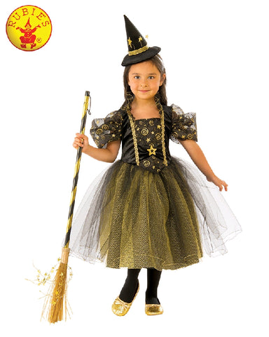 COMING SOON... Golden Star Girls Witch Costume - Sizes M, L - Salsa and Gigi