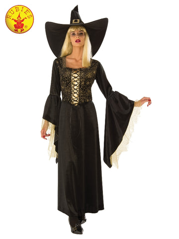 Golden Web Ladies Witch Halloween Costume