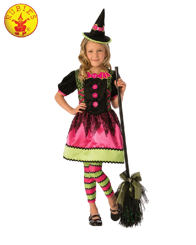 Bright Witch Girls Costume - Sizes S, M, L - Salsa and Gigi