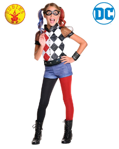 Harley Quinn Deluxe DC Superhero Girls Costume - Size S, M, L - Salsa and Gigi