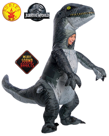 Jurassic World Velociraptor Blue Inflatable Child Costume with Sound - Salsa and Gigi Australia 641274