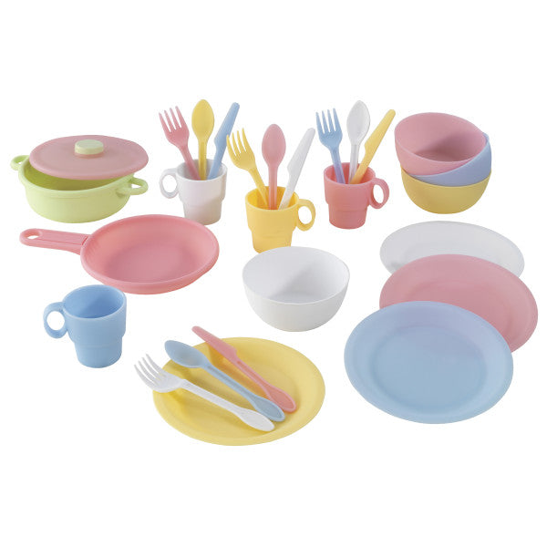KidKraft 27-Piece Cookware Play Set - Pastel - Salsa and Gigi Australia 01