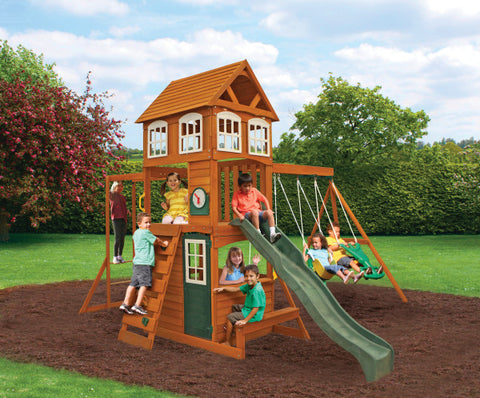 KidKraft Cranbrook Wooden Swing Set Playset Cubby House - Salsa and Gigi Australia