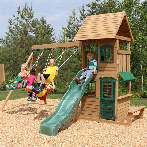 KidKraft Windale Climbing Frame Outdoor Wooden Play Centre - Salsa and Gigi Australia