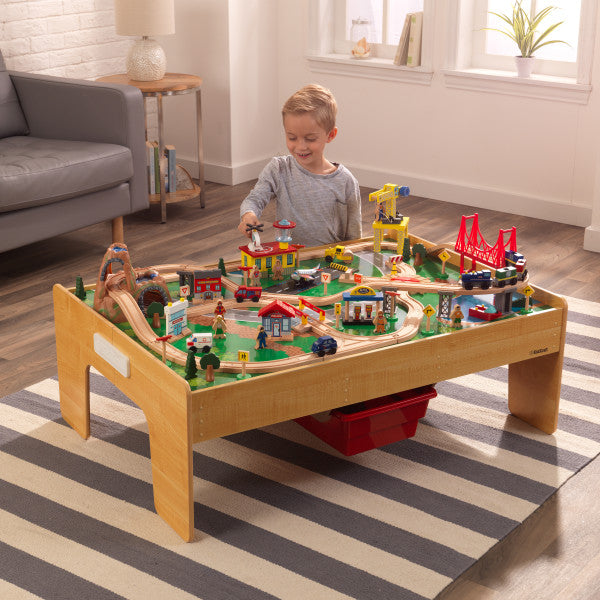 Adventure Town Railway Train Set & Table with EZ Kraft Assembly™ - Salsa and Gigi