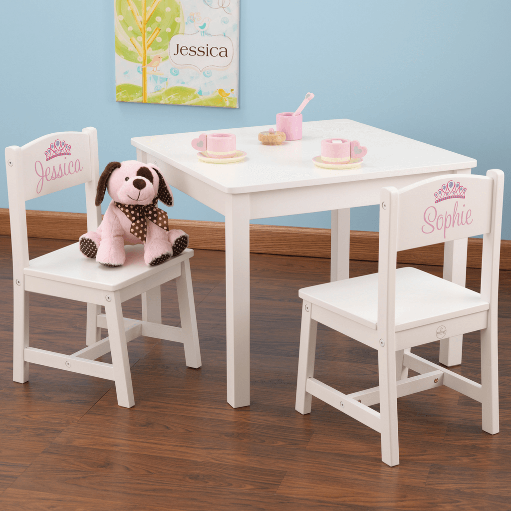 KidKraft Aspen Table & 2 Chairs White for Children 21201 Salsa and Gigi