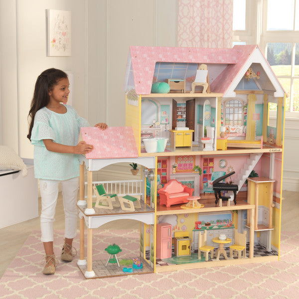 KidKraft Shimmer Mansion With 30 Pieces Of Accessories Girls Fantasy House New. Puppenhäuser