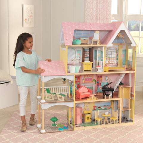 KidKraft Lola Mansion Dollhouse with EZ Kraft Assembly™ - Salsa and Gigi Australia