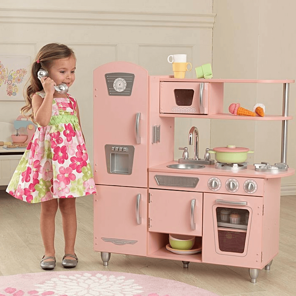 KidKraft Pink Vintage Kitchen Girls Pretend Play 53179