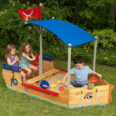 COMING BACK SOON.... Pirate Sandbox Boat Sandpit - Salsa and Gigi
