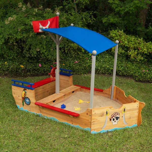 BACK IN STOCK.... Pirate Sandbox Boat Sandpit - Salsa and Gigi