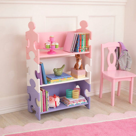 KidKraft Puzzle Bookshelf Pastel - Bedroom Storage - Salsa and Gigi Australia