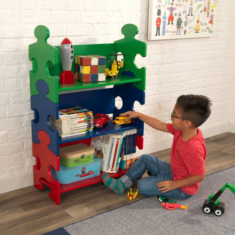 KidKraft Puzzle Bookshelf - Bedroom Storage - Salsa and Gigi Australia