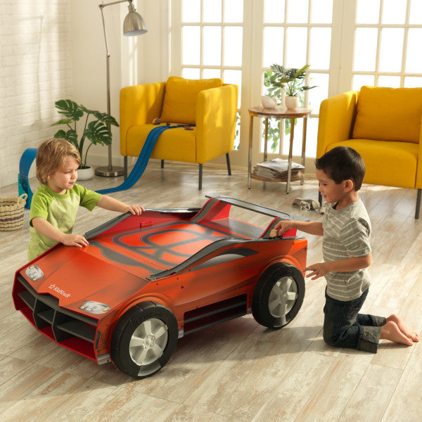 COMING SOON.... Speedway Car Play N Store Activity Table - Salsa and Gigi